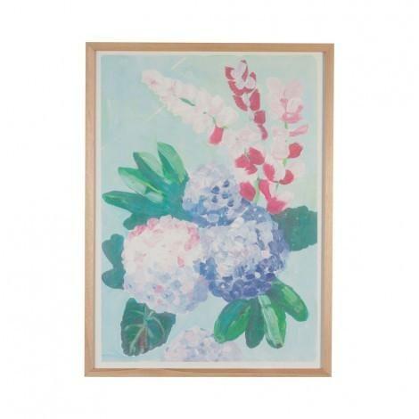 Painted Hydrangea Print | Bonnie & Neil – Salt Living or online at www.saltliving.com.au #saltliving #bonnieandneil #screenprinting #linen #handmade #print #art
