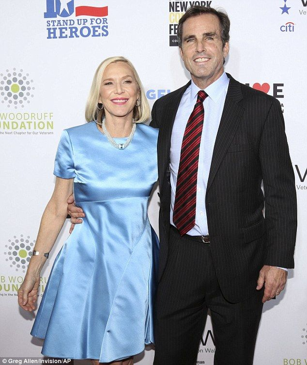 Husband and wife: Bob Woodruff and wife Lisa attended Stand Up For Heroes presented by the Bob Woodruff Foundation and the New York Comedy Festival