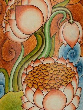 Buy Lotus Bamboo Mural Painting-Wall Art Online at Jaypore.com