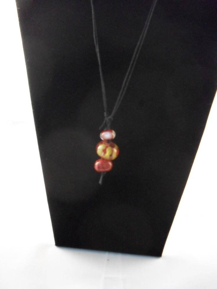 Fantastic red and yellow handmake beads