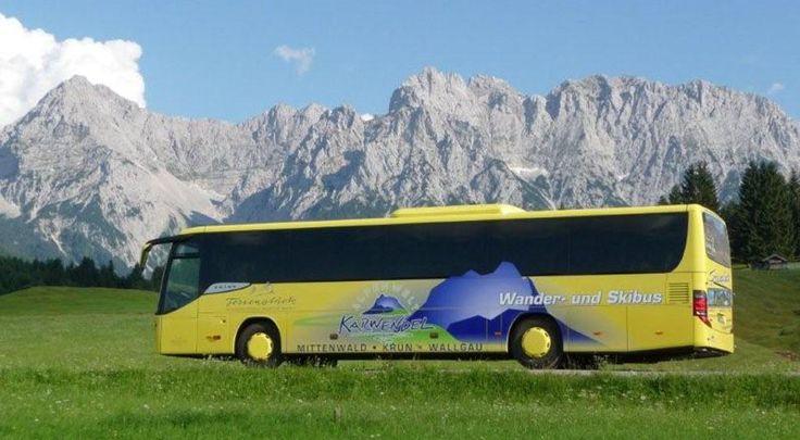 Wanderbus der Alpenwelt Karwendel mit der Gästekarte von Mittenwald Krün und Wallgau kostenlos, © Franz Kriner