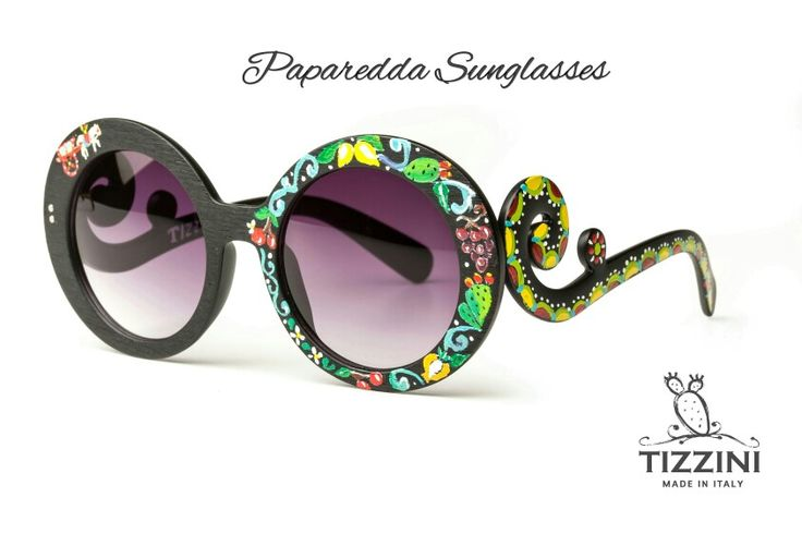 Paparedda Sunglasses info@Tizzini.com  Tizzini.com  Occhiali siciliani dipinti a mano