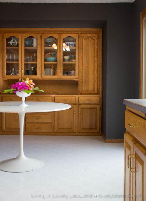 Grey Kitchen Walls With Oak Cabinets best 25+ honey oak cabinets ideas on pinterest | honey oak trim