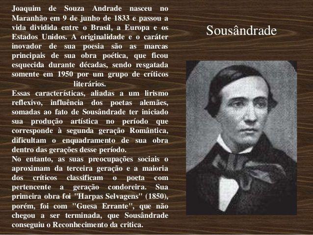 Joaquim de Souza Andrade nasceu noMaranhão em 9 de junho de 1833 e passou avida dividida entre o Brasil, a Europa e osEsta...