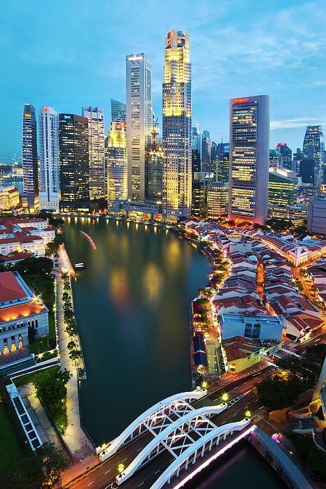 Singapore River by Ng Hock How, via fineartamerica.com