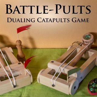 This reminds me of the old Crossbows and Catapults game from Milton-Bradley... though I suspect these would last MUCH longer.