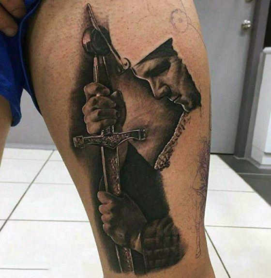 Thigh Coat Armoy Knighthood Tattoos On Gentleman