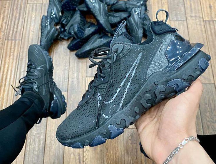 Nike React Vision Dimsix Noir Triple Black (2020) | Chaussures de ...