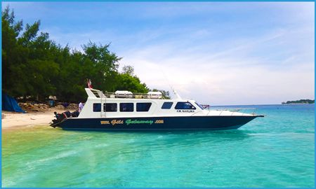 Gili Getaway boat from Bali to Gili Islands. Budget fast boat class.