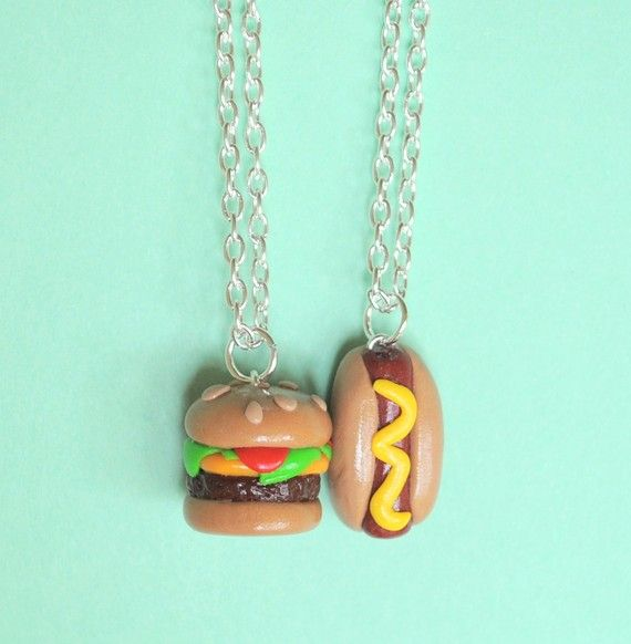 Haha .. cute best friend necklaces.