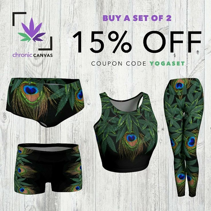 💥 Yoga Sets 15% OFF💥 Save 15% when you purchase a matching set of tank top & shorts or leggings. 💨 Use coupon YOGASET at checkout! #ganja