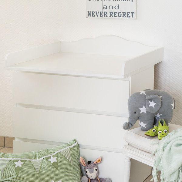 """Wickelaufsatz """"Wolke 4"""" für IKEA Malm Kommode von PuckDaddy auf DaWanda.com"""