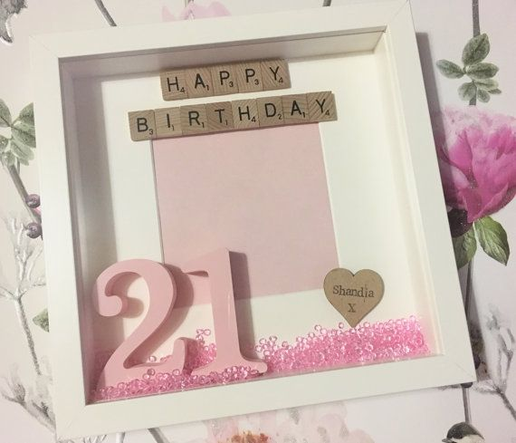 Personalised Happy Birthday Scrabble Frame by ScrabulousFrames