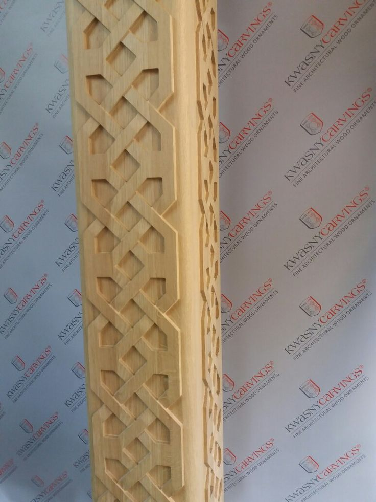 Wood decorated pillar with carved relief. #pillar #carved #architectural #column #decor #interior