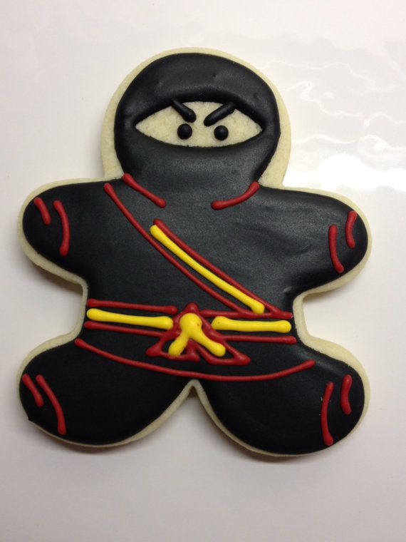 Ninja Decorated Sugar Cookies by DecoratedDesserts on Etsy
