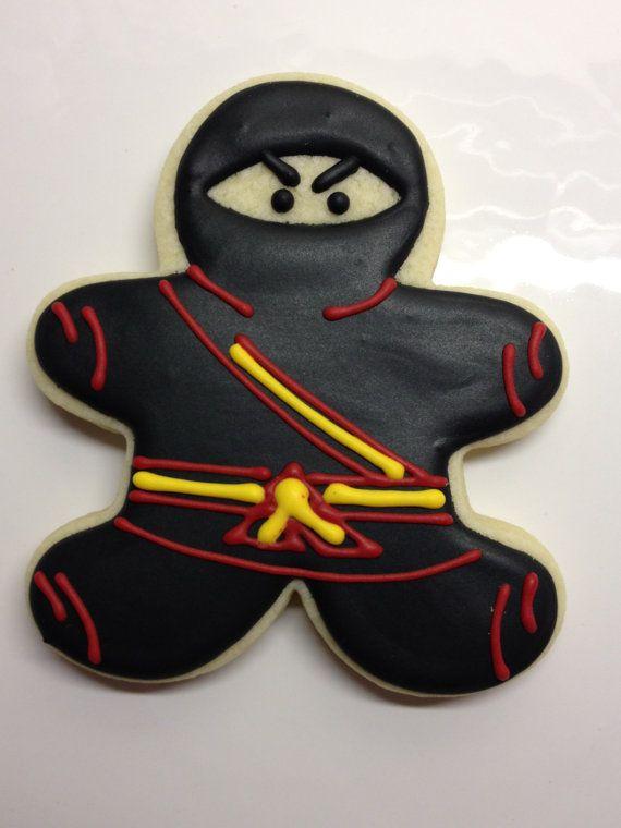 Ninja Decorated Sugar Cookies by DecoratedDesserts on Etsy