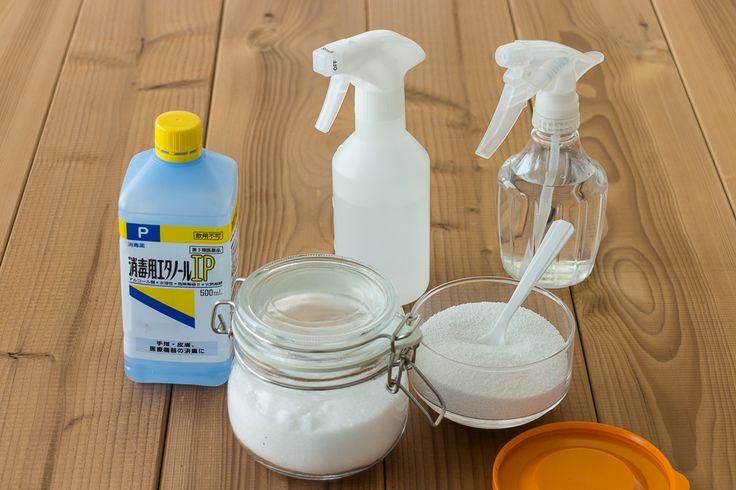重曹、クエン酸、エタノールは幅広い場所で掃除に使えて、あと処理もラクな自然派アイテム。正しい使い方をもう一度確認し、より効果的に掃除しましょう! もう一度確認!重曹・クエン酸(酢)・エタノールの使い方 重曹:  油や皮脂汚れに向くアルカリ性の重曹は、汚れの状態で使い方が異なります。壁などにこびりついた汚れに