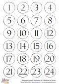 planche de chiffre pour le calendrier de l'avant