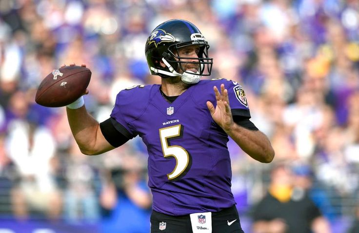 Steelers vs. Ravens:  21-14, Ravens  -  November 6, 2016  -   Baltimore Ravens quarterback Joe Flacco throws to a receiver in the first half of an NFL football game against the Pittsburgh Steelers, Sunday,  Nov. 6, 2016, in Baltimore. (Credit: AP / Nick Wass)