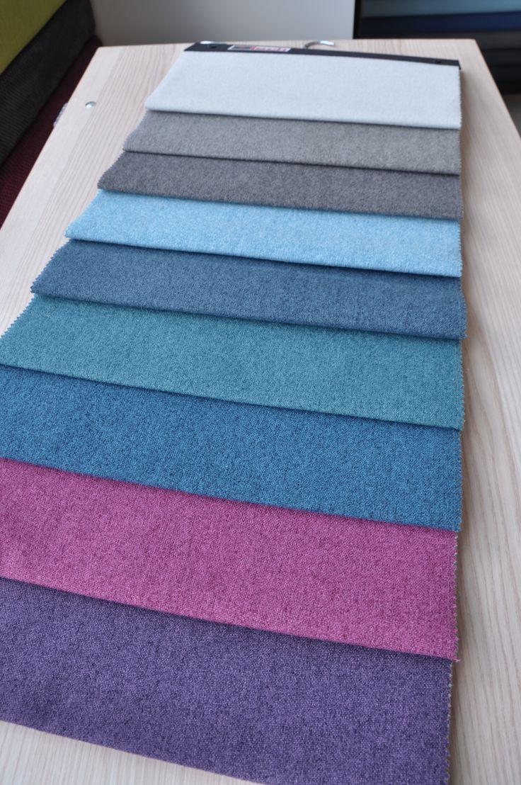 Tegoroczna nowość - tkanina MALAGA - w tym wydaniu kolorystyka chłodna.