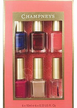 Champneys Nail Polish Collection Gift 10179706 48 Advantage card points. This gorgeous Champneys Nail Polish Collection Gift has everything you need for beautiful nails! It includes a selection of stylish nail polishes in lovely sophisticated colo http://www.comparestoreprices.co.uk/nail-products/champneys-nail-polish-collection-gift-10179706.asp
