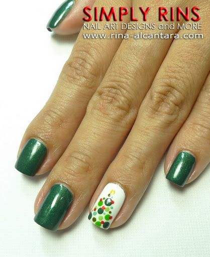 Best 25+ Christmas tree nails ideas on Pinterest | Christmas nail ...