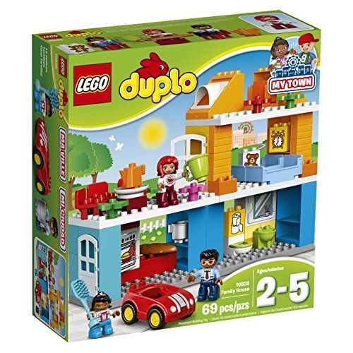 Play out real-life scenarios in LEGO DUPLO My town: a recognizable world with modern DUPLO figures. There are endless play opportunities in this easy-to-build house—toddlers can have fun practicing ...