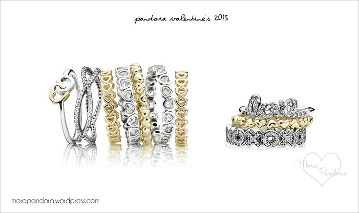 Pandora Valentine's Rings 2015// I love the crossing paths ring!