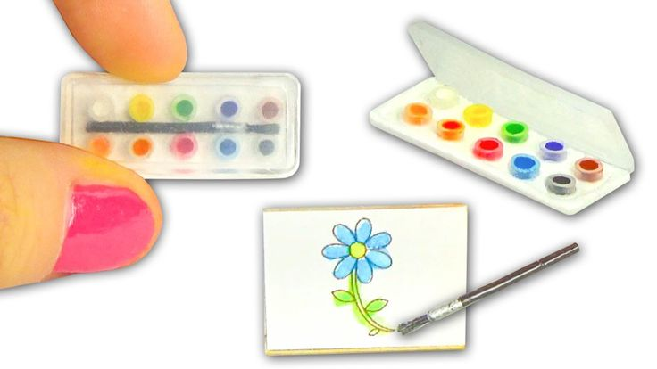 Miniature Watercolor Set DIY (actually works!) - Art Supplies - YolandaM...