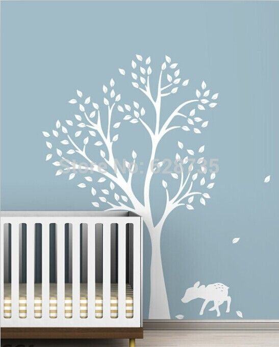 High quality 198 x141cm Extra Large White Tree Decal for Nursery room , vinyl tree wall stickers for baby rooms decor ,T3025-in Wall Stickers from Home & Garden on Aliexpress.com | Alibaba Group