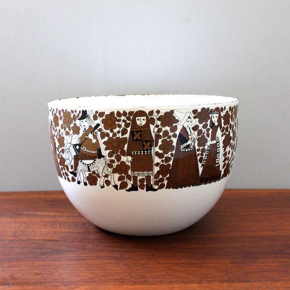 Ritari. 1960s Finel enamel bowl. Esteri Tomula design by Kultur, $58.00
