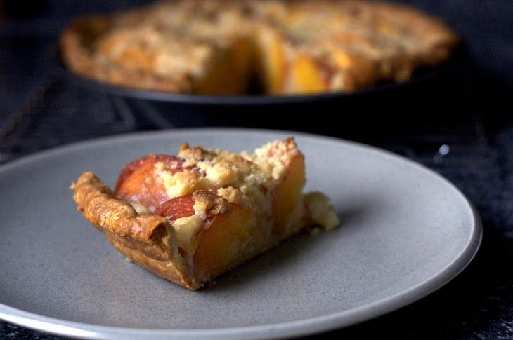 Peach and Crème Fraîche Pie | Yummy Recipes I want to try ...