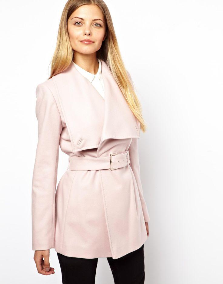 Manteau femme rose pastel