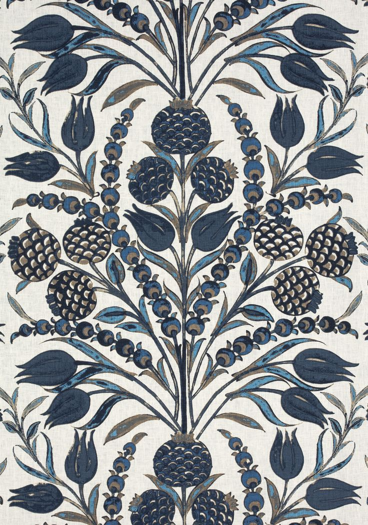 CORNEILA, Navy, F972603, Collection Chestnut Hill from Thibaut