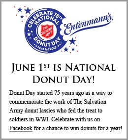 June 1-National Donut Day!