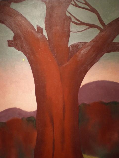 Georgia O'Keeffe 1924 'The Chestnut Red',