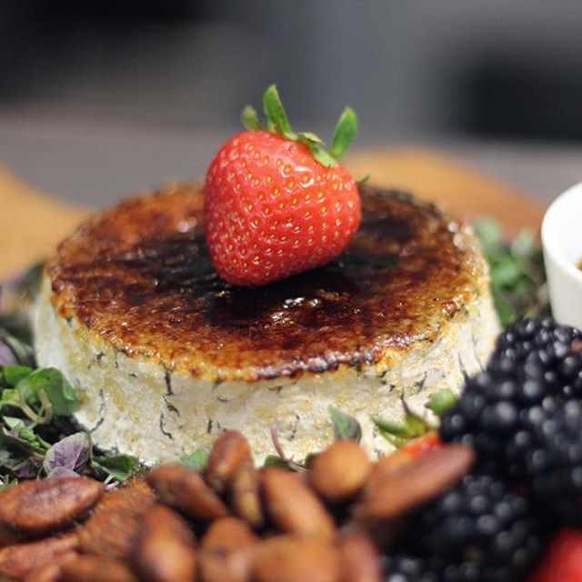 is it four yet? Happy Hour is from four to midnight tonight and we have some new menu items to share! How about a Brulee'd Humboldt Fog goat cheese plate to start? Insane. #extraordinarydesserts #happyhour #tgif #friday #littleitaly #sandiego #cheese