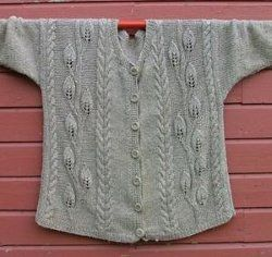 Leaves Jacket | AllFreeKnitting.com