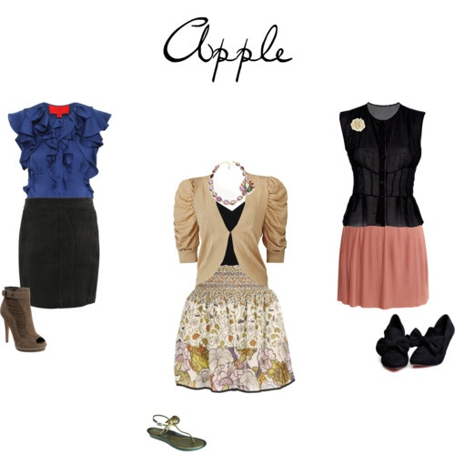 style dress suits apple shape skirts