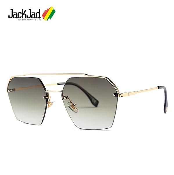 2fc30d7e494e JackJad 2019 Semi-Rimless Sunglasses Women Gradient 25034 #Discounts  #BestPrice