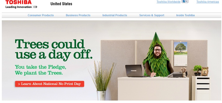 Dead Tree Edition: 10 Questions About Toshiba's No-Print Day