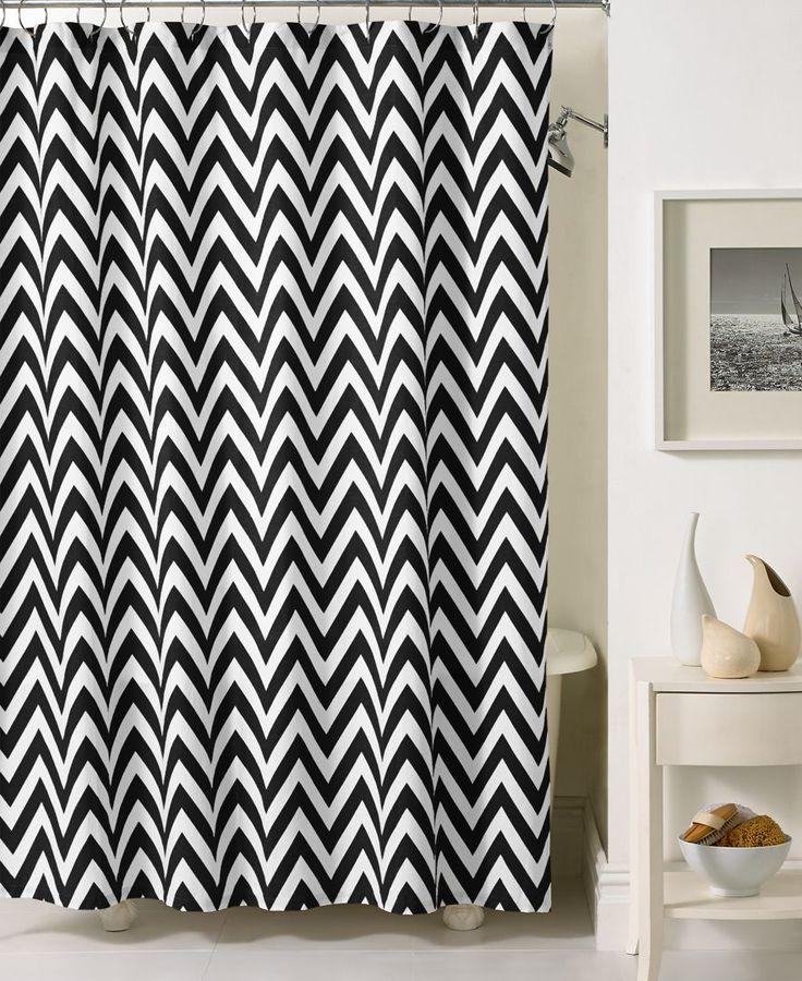 Best  Chevron Shower Curtains Ideas On Pinterest Gray Chevron - Black and white chevron shower curtain