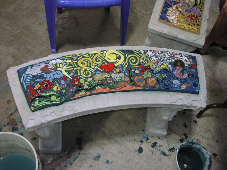457 Best Images About Mosaic Furniture On Pinterest