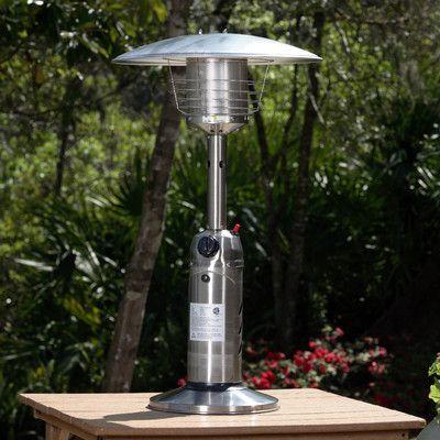Fire Sense 10,000 BTU Propane Tabletop Patio Heater Finish: Stainless Steel