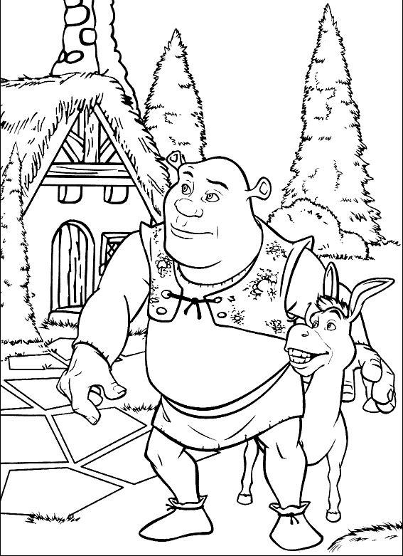 Shrek Ausmalbilder Ausmalbilder F 252 R Kinder Boyama