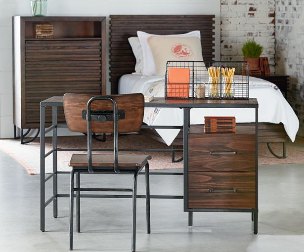draftsman chair magnolia home magnolia home by joanna gaines house stairs youth desk. Black Bedroom Furniture Sets. Home Design Ideas