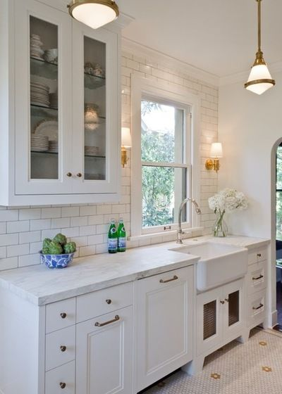 12 Ways to Make Your Kitchen Look and Feel Bigger - Houzz - Traditional Kitchen by BRADSHAW DESIGNS LLC