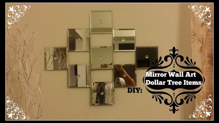 Diy Mirror Wall Art Dollar Tree Mirrors Dollar Tree