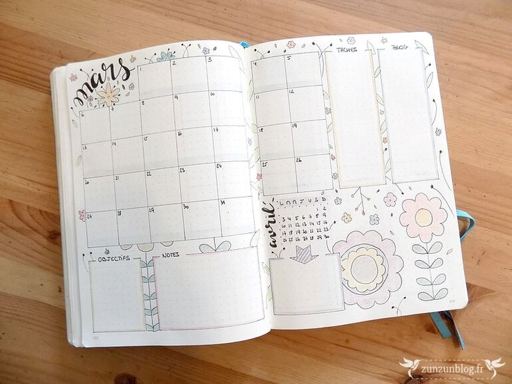 Mars dans mon Bullet Journal ⋆ ZunZún - Féminin. Eclectique. Ecosensible.