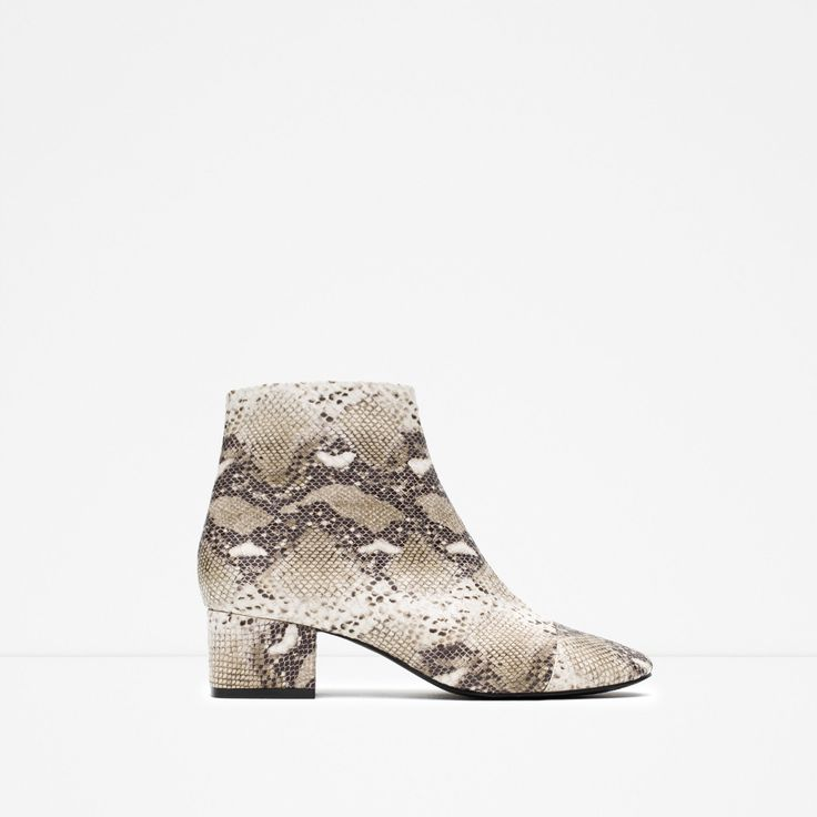 So happy with these!! Ankle boots with snake print from Zara <3